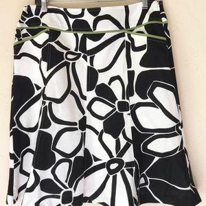 Ann Taylor Printed Floral Skirt